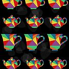 Tea Leaves - Geometric Colorful Pattern by Allise Noble