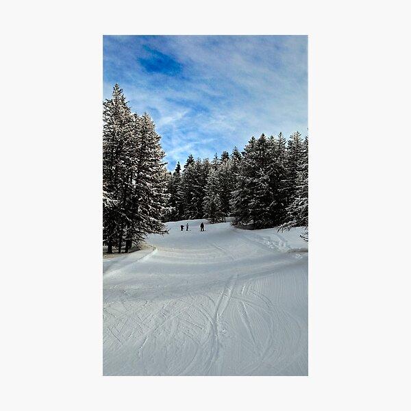 White snow blue sky Photographic Print