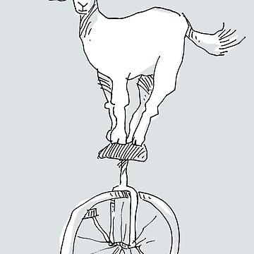 Goat on a unicycle by mmawson