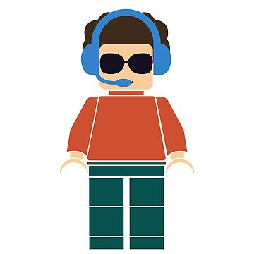 Cool minifigure with headphones by kidostylebrand