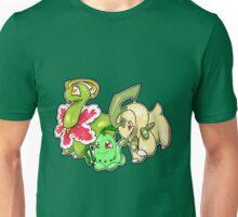 Johto Grass Starter Evos Unisex T-Shirt
