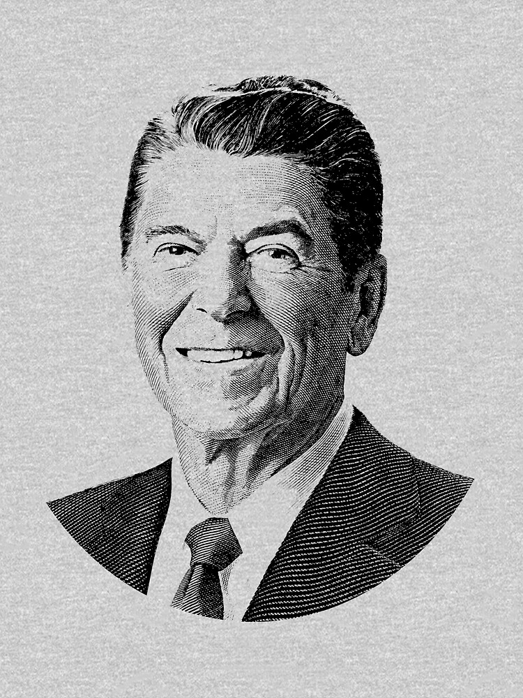President Ronald Reagan Graphic - Black and White by warishellstore
