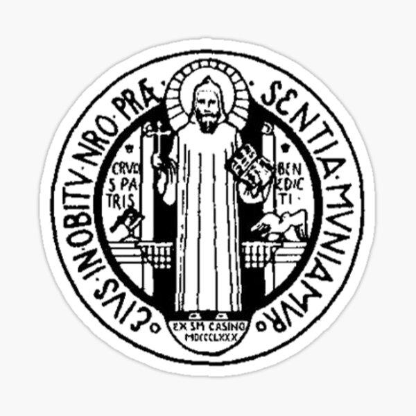 Order of Saint Benedict Medal Sticker