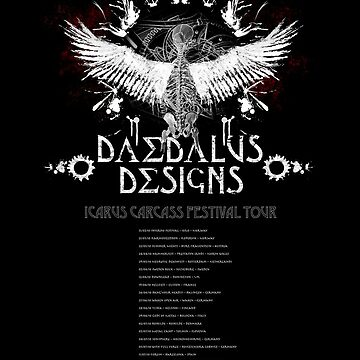 Daedalus Designs Tour Poster, all the best European metal festivals listed! by matteroftaste