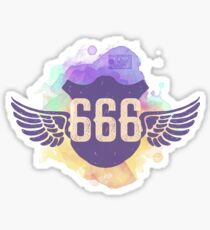 666 ANGEL WINGS PROTECTED UNIVERSE REPEATING NUMBERS Sticker