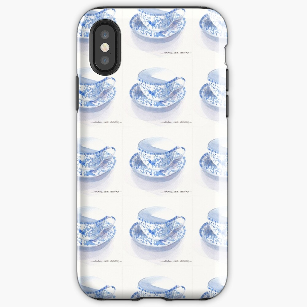 Blue and White Japanese Teacup iPhone Case & Cover