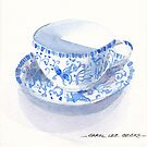 Blue and White Japanese Teacup by Carol Lee Beckx