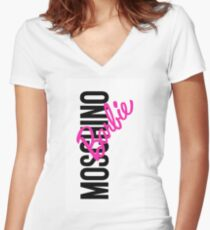 Moschino Barbie Fitted V-Neck T-Shirt