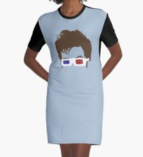 Timelord Glasses Head Graphic T-Shirt Dress