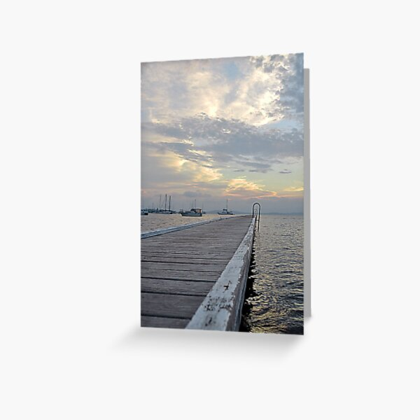 Belmont Jetty - NSW Australia Greeting Card