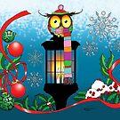 Christmas Lantern Owl by tigressdragon