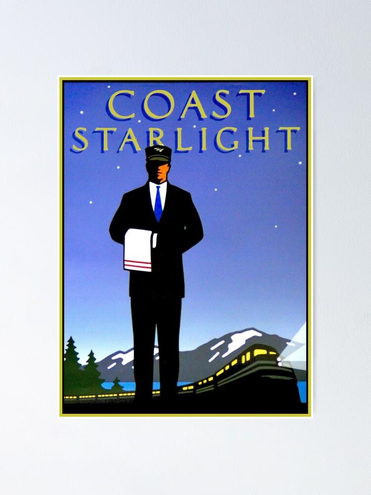 """AMTRAK : Vintage Coast Starlight Train Advertising Print ..."