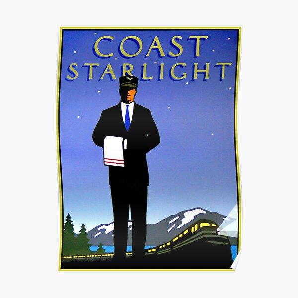 AMTRAK : Vintage Coast Starlight Train Advertising Print. Poster