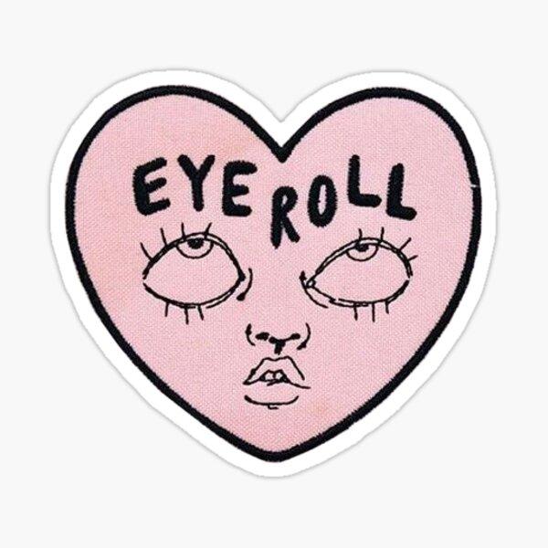 eye roll heart Sticker
