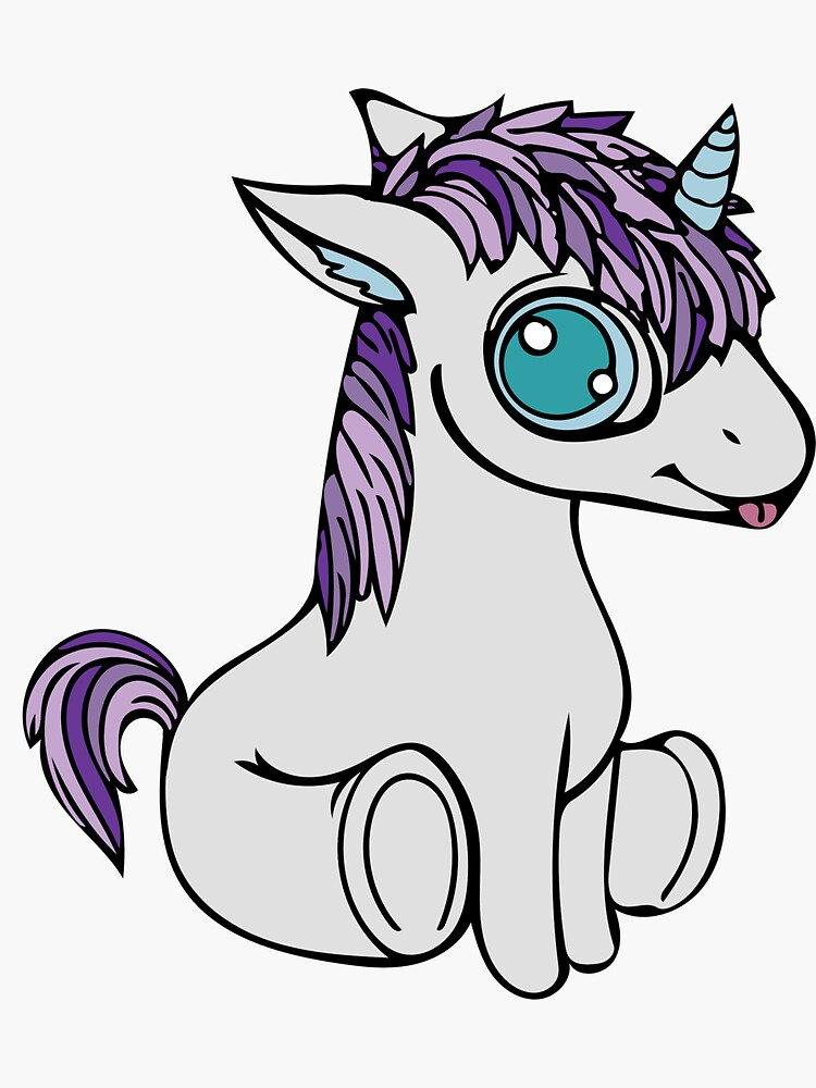 Unicorn - Cute and Adorable  by 1x1PixelCorp