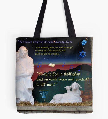 Heilige Familien-Weihnachtskarte Tote Bag