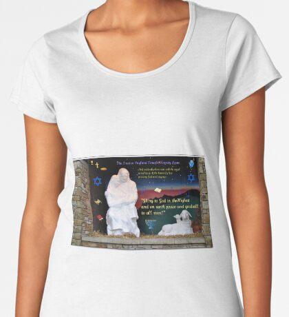 Heilige Familien-Weihnachtskarte Frauen Premium T-Shirts