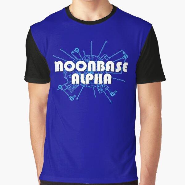 SPACE 1999 MOONBASE ALPHA+ALPHA DIAGRAM Graphic T-Shirt