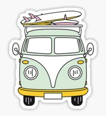 Hippie Van with Surfboard Sticker