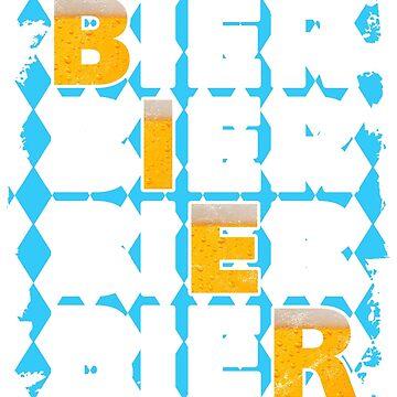 Beer beer beer! Oktoberfest drinking shirt by RAWWR