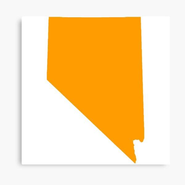 Orange Nevada Canvas Print