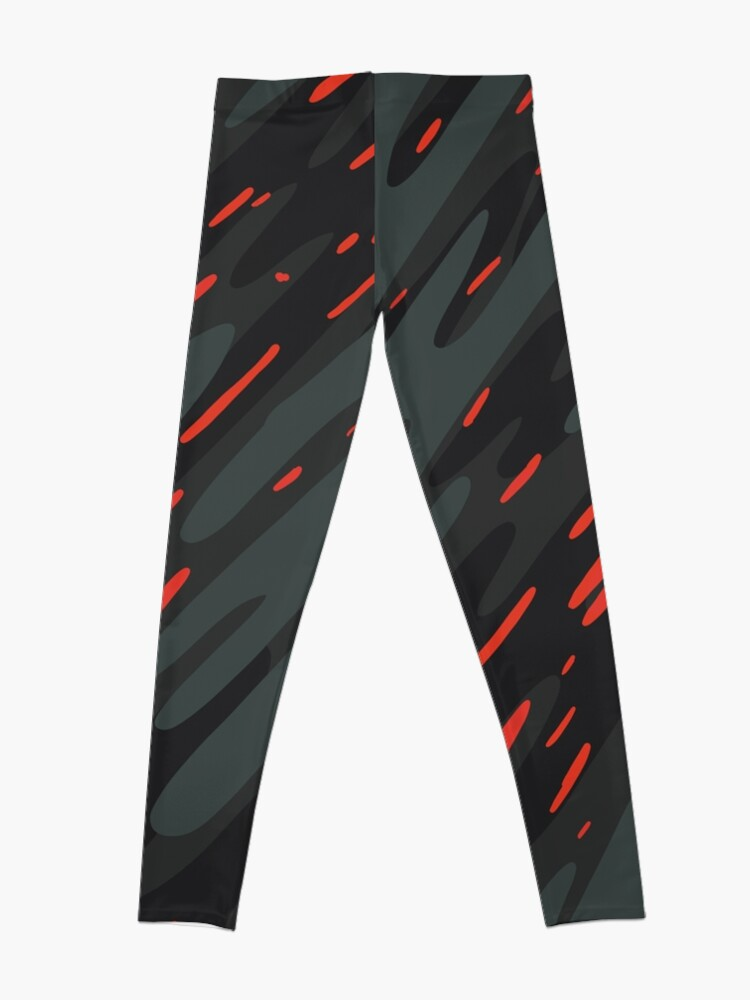 Alternate view of Poppy Talk - Abstract Doodle Leggings