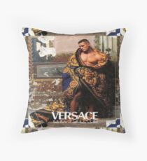 Vintage Advertising Poster ( Featuring a Nude Male Model) Throw Pillow