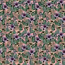 pink tropical print by Lara Wolf