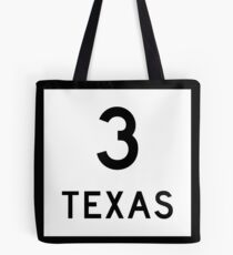 Texas State Highway SH 3 | United States Highway Shield Sign Tote Bag