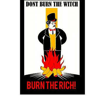 Burn the rich vintage anti capitalism shirt by SOpunk