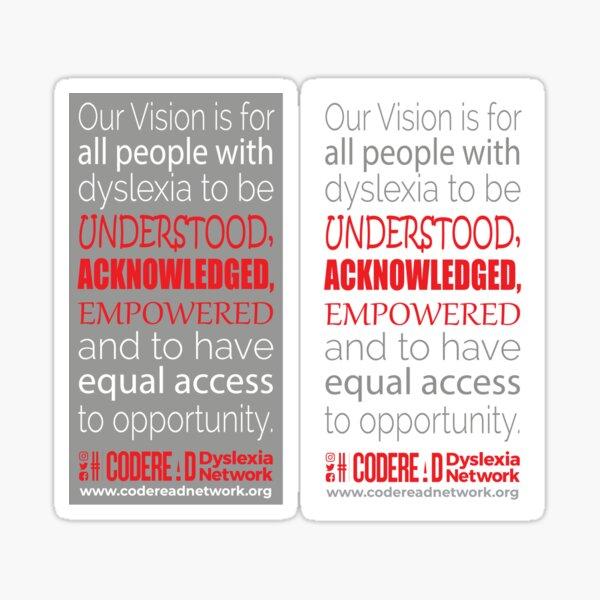 Our Vision - Dyslexia Awareness Sticker
