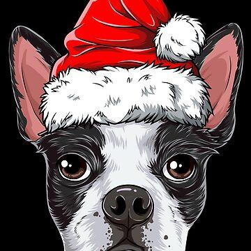 Boston Terrier Santa camiseta de Navidad niños niños niñas regalos de LiqueGifts