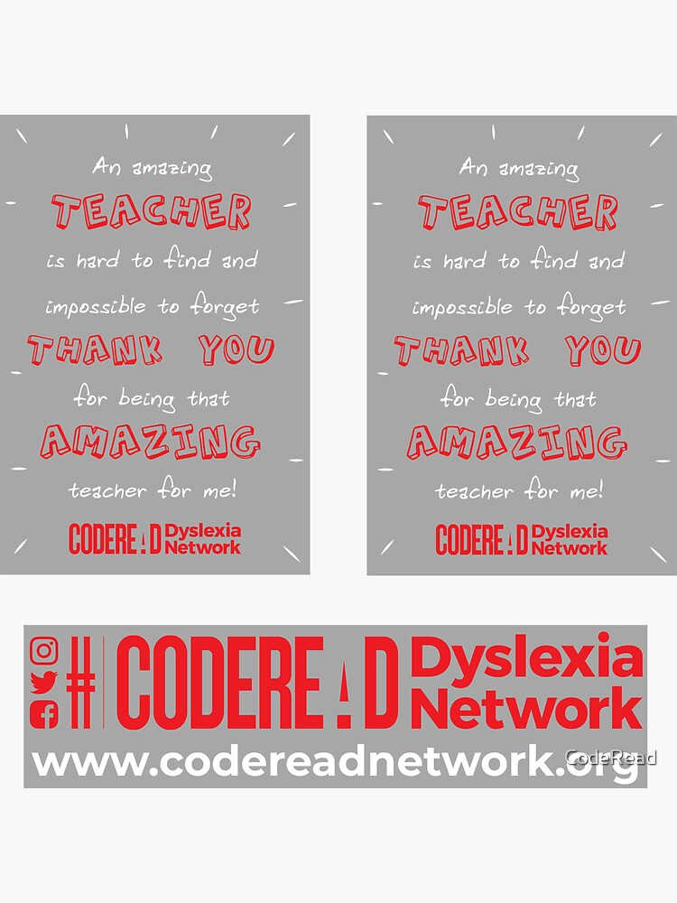 Amazing Teacher - Dyslexia Awareness by CodeRead