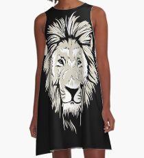 African Lion A-Line Dress