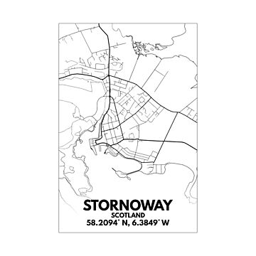 Stornoway, Isle of Lewis, Outer Hebrides, Scotland City Map by downbubble17