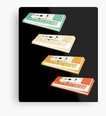 Vintage Keyboard T-Shirt Cool Retro Keyboard Player Gift Tee Metal Print