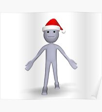 character 3d Christmas Poster