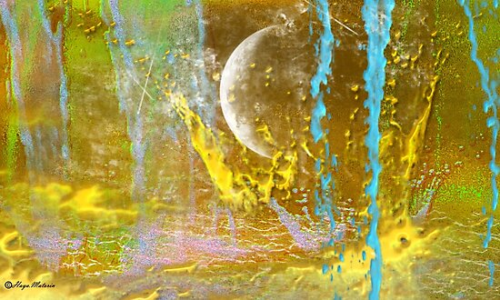 MOON abstract 121-  Art + Products Design  by haya1812