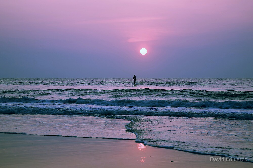 Early Morning Surfer by David Edwards