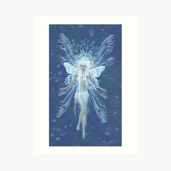 Snowflake fairy queen Art Print