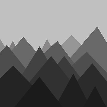 Montañas abstractas en blanco y negro de DanaAndTheBooks