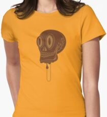 CHOCOLATE SKULL Womens Fitted T-Shirt