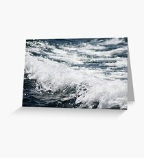 Crashing Ocean Wave Greeting Card