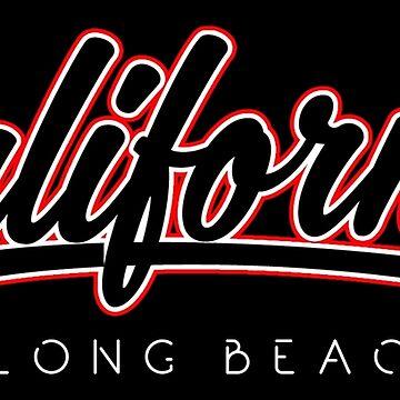 Long Beach California Retro Typography by EddieBalevo