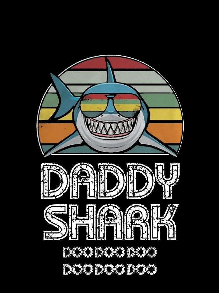 Daddy Shark Retro - Für dunklen Druck von Unisson