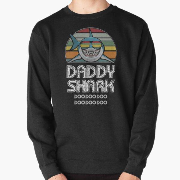 Daddy Shark Retro - For Dark Print Pullover Sweatshirt