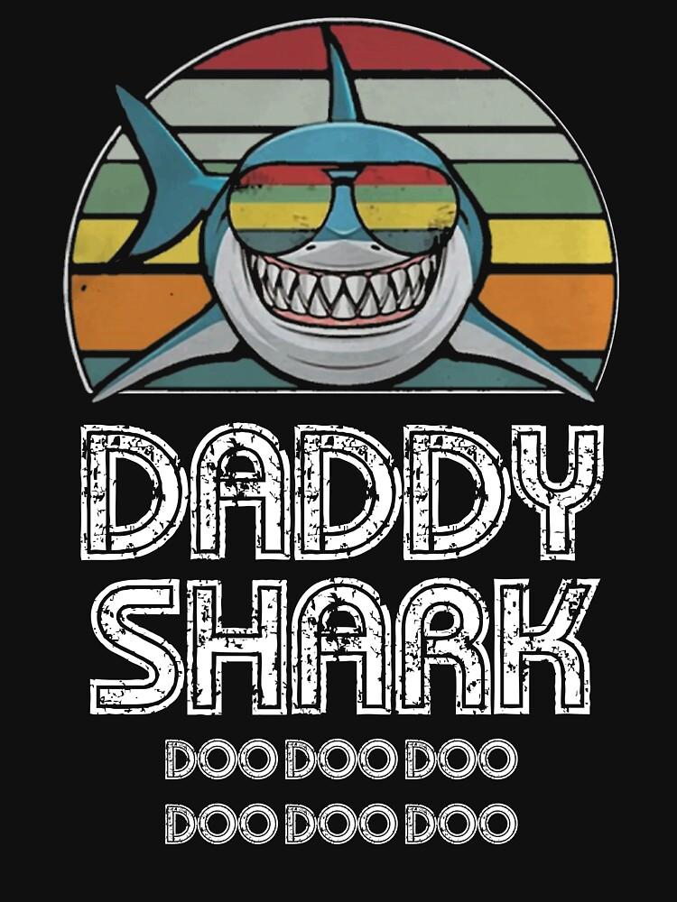 Daddy Shark Retro - For Dark Print by Unisson