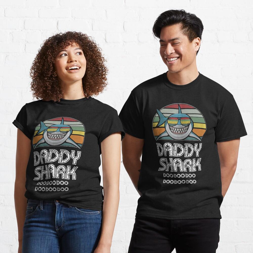 Daddy Shark Retro - For Dark Print Classic T-Shirt