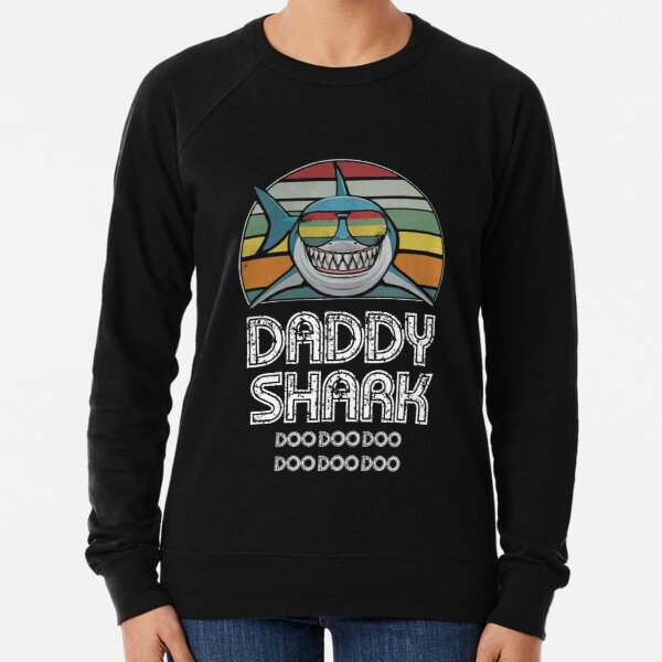 Daddy Shark Retro - For Dark Print Lightweight Sweatshirt