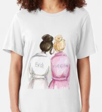 Wedding Gifts/Bridal Shower Gifts - Best Cute Engagement Gift for Her, Bride, Maid of Honor, Women, Best Friend or Sister - Bride and Maid of Honor Slim Fit T-Shirt